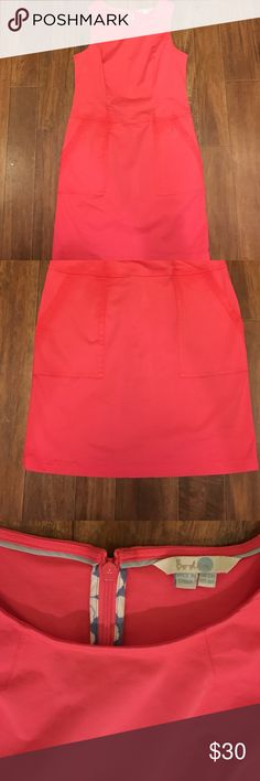 Boden women's dress with pockets Gently used dress with pockets. Color is coral size is 8 Boden Dresses