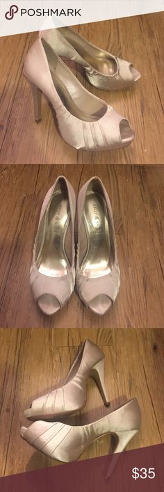 Kelly & Katie Peep Toe Heels Champagne Colored Peep Toe Heels- Size 6, box included Kelly & Katie Shoes Heels