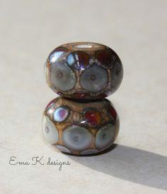 Organic Jewels handmade lampwork beads by Ema by EmaKDesigns, $12.00
