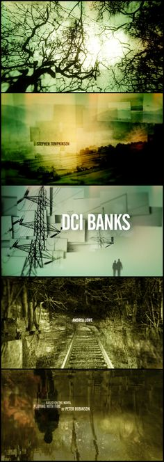 UK TV Series DCI Banks title sequence by MOMOCO