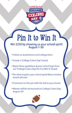 Rebels looking to win $250 of Ole Miss gear should check out the Pinterest contest on College Colors' page! http://pinterest.com/collegecolors/