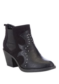F&F Studded Western Ankle Boots