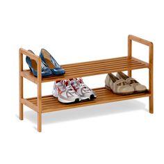 Amazon.com - Honey-Can-Do SHO-01600 Bamboo 2-Tier Shoe Shelf - Free Standing Shoe Racks