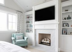 master-bedroom-with-fireplace | Sitting area, Master bedroom and ...