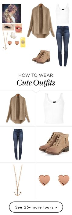 """""""Random Outfit 2"""" by mangatprab on Polyvore featuring J Brand, Kate Spade…"""