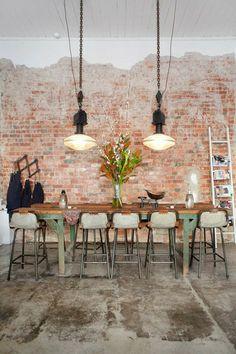 exposed brick|kitchen