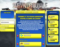 Survivor Royale Hack Cheat Online Generator Diamonds, Gold  Survivor Royale Hack Cheat Online Generator Diamonds and Gold Unlimited This new Survivor Royale Hack Online is out and you can have fun with it. You will see that you will manage to achieve all of your game goals with it. In this game there will be a lot of things to be done. First of all, you... http://cheatsonlinegames.com/survivor-royale-hack/
