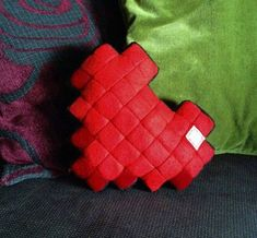 Learn to make an 8 bit heart pillow! This makes me happy!or the nerd in all of us :)