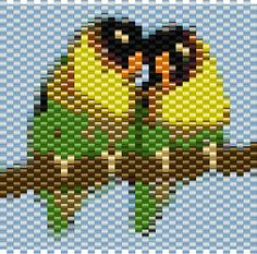Amybeads: LoveBird bead Pattern