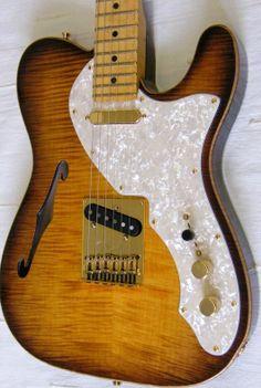 Fender USA Select Thinline Tele - violin sunburst - used/2013