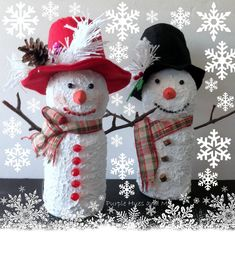 Recycled+Juice+Bottle+Snowmen