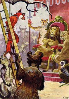 Book illustrattions that show how German artist Heinrich Kley portrayed Reynard's world of anthropomorphic animals.