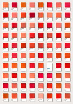 Elegant Shades Of Red, Tampax Ad By Ian Hart Nuancier Pantone, Campagne  Publicitaire, Couleur