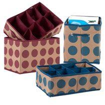 Storage. $1 polka bot Collapsable boxes