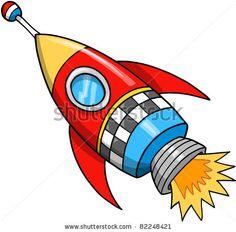 Cute Rocket Vector Illustration by MisterElements, via Shutterstock
