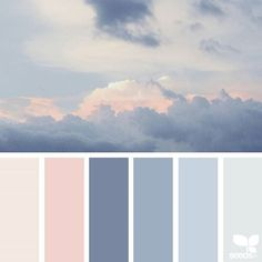 This coastal decor color palette looks like the calm before the storm.
