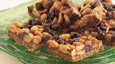 Make a sweet cookie crust and top it with a quick version of a favorite peanut candy treat.