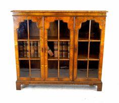 Lovely 3 door mahogany bookcase by Pratts of Bradford