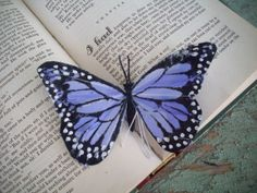 Set of 2 Purple Feather Painted Butterflies  by HavenshireDowns, $3.50