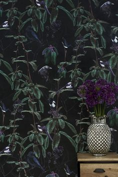 Folia Dark Wallpaper By Witch And Watchman - Wallpaper & Decor