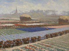 Anton Louis 'Anton L.' Koster (Terneuzen 1859-1937 Haarlem) Hyacinten- en tulpenvelden - Kunsthandel Simonis en Buunk, Ede (Nederland).