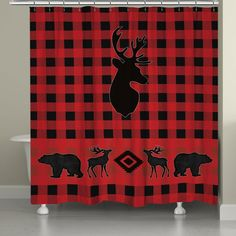 "Our ""Buffalo Check Shower Curtain"" is sure to create that classic cabin feel you're looking for. All of our products are digitally printed to create crisp, vibrant colors and images. Made to order in Rustic Shower Curtains, Black Forest Decor, Living Room Red, Buffalo Check, Rustic Decor, Country Decor, Country Living, Bathroom Accessories, Duvet Covers"