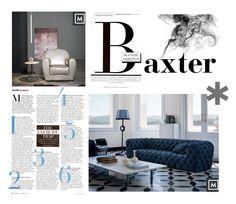 """Baxter Living Romm"" by mobmarchese on Polyvore featuring interior, interiors, interior design, Casa, home decor, interior decorating e Morgan"