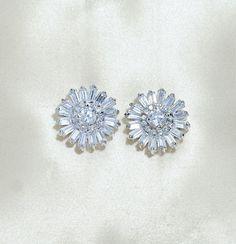 Baguette Starburst Earrings