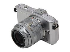 """OLYMPUS PEN E-PM1 (V206011SU000) Silver 12.3 MP 3.0"""" 460K LCD Interchangeable Lens Type Live View Digital Camera w/14-42mm ..."""