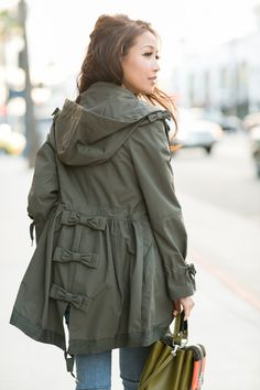 bow parka by valentino