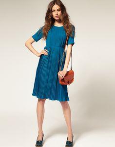 Midi pleated dress. $40.29 I'll take one in blue.