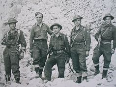 Polish troops in the ruins of Monte Cassino, Italy.