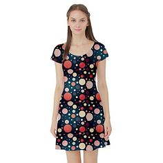 Colorful Abstract Geometric Dots Pattern Short Sleeve Skater Dress CowCow http://www.amazon.com/dp/B014VT92T0/ref=cm_sw_r_pi_dp_WL4Rwb034XY7A