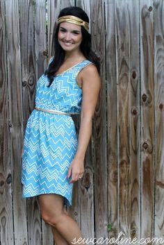 Tiny Pocket Tank Dress // SewCaroline.com