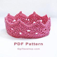 Crochet Crown Pattern- Princess Crown – Princess Tiara – Prince Crown – Photography Props N77 – Gifts shop