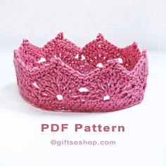 Crochet Crown Pattern- Princess Crown – Princess Tiara – Prince Crown – Photography Props N77 – Gifts shop