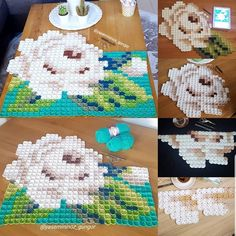 Pixel Crochet, Crotchet Patterns, C2c, Cross Stitch, Kids Rugs, Plaid, Blanket, Creative, Instagram