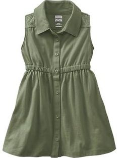 Button-Front Jersey Dresses for Baby | Old Navy