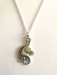 Is There Anything More Fantastical Than a Unicorn? Silver Charm Pendant Necklace by EvenstarPrettyThings on Etsy Organza Gift Bags, Silver Charms, Unicorn, Buy And Sell, Charmed, Pendant Necklace, Chain, Gifts, Handmade