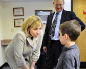 Lt. Governor Kim Guadagno visit to the Princeton Child Development Institute. Accompanied by Assemblywoman Donna Simon, the Lt. Governor toured the facility, meeting children, staff, and parents along the way. (NJ Office of Information Technology)