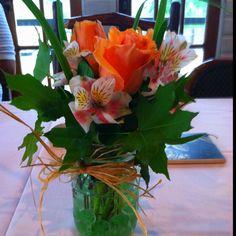 Mason jar floral arrangements