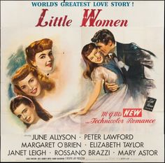 Little Women, 1949 Great Love Stories, Love Story, Harry Davenport, June Allyson, Mary Astor, Peter Lawford, Janet Leigh, Movie Info, Elizabeth Taylor