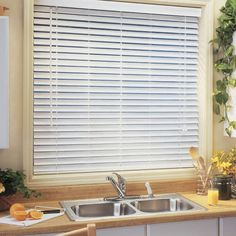 """BlindSaver Advantage 2"""" Faux Wood Blinds: BlindSaver Faux Wood Blinds are distinguished by quality craftsmanship and durability. These products are produced with the highest quality metal and polycarbonate components. Additionally, our faux wood blinds are built on a roll-formed, heavy-duty steel headrail, which further increases the strength and stability of the product."""