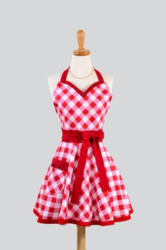 I love this as an apron and I would also love it as a dress.