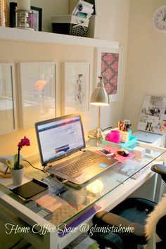 #homeoffice space, small desk areas #decor inspiration, #decorating a #homeoffice on a budget