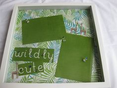 Jungle baby shadow boxes | Wildly Cute Jungle Nursery Shadow Box Frame by BoxThisMoment