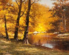 Texas:Early Texas Art - Regionalists, ROBERT WILLIAM WOOD (American, 1889-1979). October Hues. Oilon canvas. 16 x 20 inches (40.6 x 50.8 cm). Signed lower le...