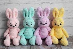 Crochet Dolls, Crochet Baby, Knit Crochet, Knitting Patterns, Crochet Patterns, Crochet Bunny Pattern, Sewing Crafts, Diy Crafts, Crochet Animals