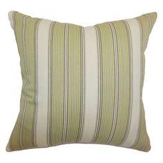 The Pillow Collection Taite Stripes Pillow - Leaf - P18-MVT-1070-LEAF-C100