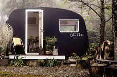 Refurbished Bubble Trailer Greenhouse | Backyard, Back Yard, DIY, Vintage, Salvaged, Repurposed, Reuse, Recycle, Airstream, Camper, Trailer, Work shop, Gardening, Storage, Woods, Chalkboard Paint